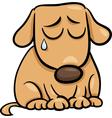 Sad dog cartoon vector