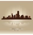 Jersey city new jersey skyline city silhouette vector