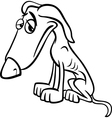 Poor dog cartoon coloring page vector