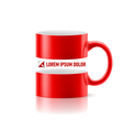 Red mug with space in the middle vector