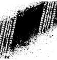 White tire track on black ink blots vector