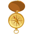 Old look compass with windrose vector