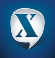 Bubble speech letter x vector