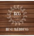 Best wedding label vector
