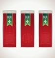 Three red belarus vertical banners with ribbon vector