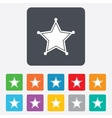 Star sheriff sign icon police button vector