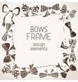 Sepia bows frame vector