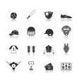 Baseball icons set black vector