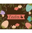 Happy easter card design vector