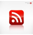 Rss icon news symbol vector