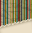 Retro stripe vintage with copyspace for text vector