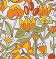 Flower seamless texture endless floral pattern can vector