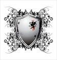 Ornate heraldic shield vector