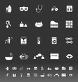 Wellness icons on gray background vector