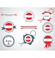 Made in austria - set of seals badges vector
