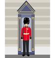 Royal british guardsman holding a rifle and vector