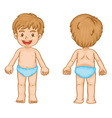 Boy body parts vector