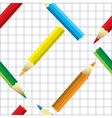 Crayons stationeries seamless vector