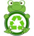 Recycle eco logo frog vector