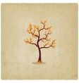 Autumn tree old background vector