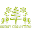 Origami christmas design elements vector