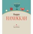 Happy hanukkah greeting card design vector