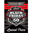 Template retro poster for black friday vector