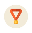 Flat medal icon vector