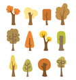 Autumnal trees vector