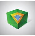3d brasil flag vector