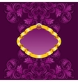 Royal frame with damask ornament vector