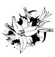 Grunge vintage lily vector