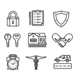 Handshake insurance icons vector