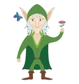 Elf with flower vector