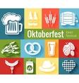 Set of oktoberfest icons vector