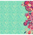 Ornate card flower background vector