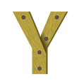 Wood letter y vector