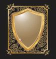 Ornate heraldic shield 2 vector