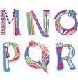 Abc font sketchy alphabet design vector