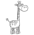 Giraffe drawing vector