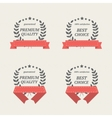 Elements with red ribbons vector