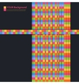 Abstract aquares and color design vector