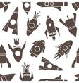 Cartoon rockets seamless pattern vector