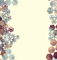 Abstract background border with hexagons vector