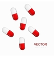 Modern pills background vector