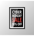Cyber monday sale banner isolated on white vector