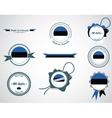 Made in estonia - set of seals badges vector