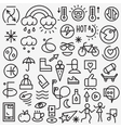 Weather summer - set thin line icons vector