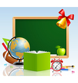 Back to school with stationery vector
