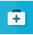 First aid kit icon flat design vector